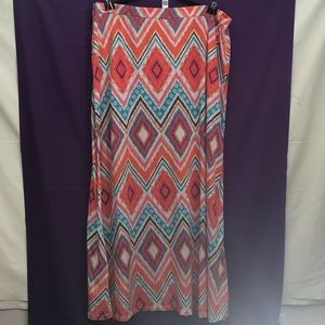 Multi- Color Pattern Long Skirt