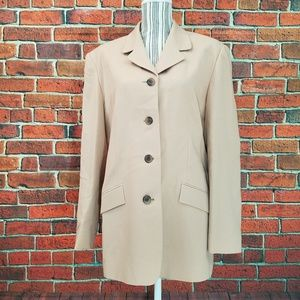 Talbots Lined Wool Camel color Blazer