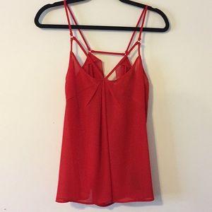 ASOS Sheer Red Blouse