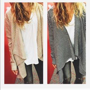 Cream and white knit cardigan