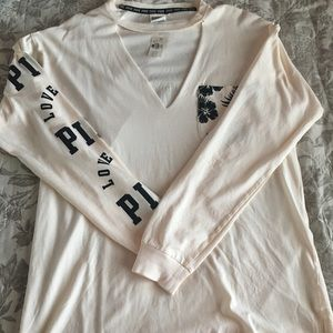(S) VS PINK Long Sleeve Tee