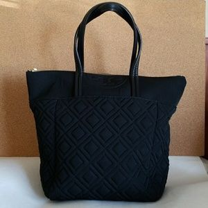 Tory Burch Quilted Nylon Tote Black
