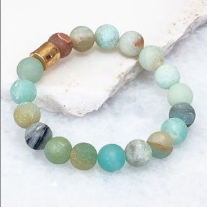 Natural Stone Multi Colored Stackable Bracelet
