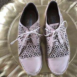 Cynthia Vincent nude laser cut espadrille sneakers