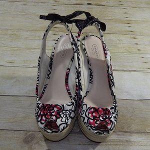 Coach Maritza Open Toe Shoes Size 8.5