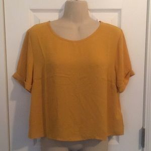 NWT Forever 21 mustard woven top- large