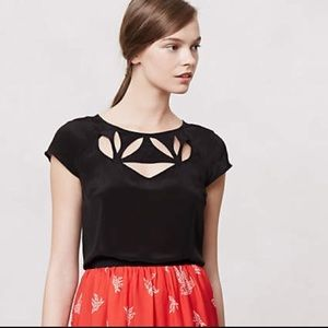 Anthropologie Maeve Cutout Top