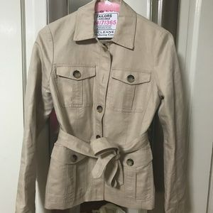 Ann Taylor trench coat jacket Sz 0