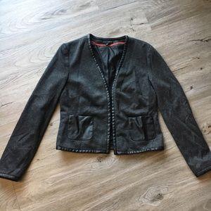 Willi Smith Black & Gray Blazer with Front Pockets
