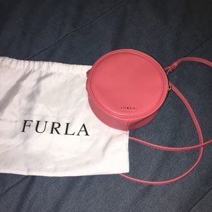 AUTHENTIC Furla pink cross body purse