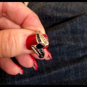 Jewelry - Sapphire and diamond ring 10k