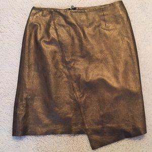 Nordstrom Asymmetrical Metallic Skirt
