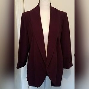 Calvin Klein Purple Blazer Open Front Size 10