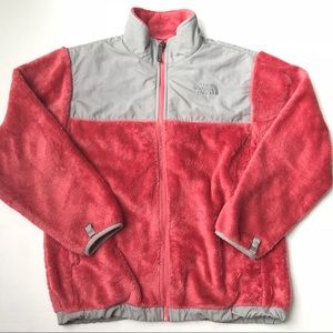 The North Face Coral fleece zip up jacket girls L