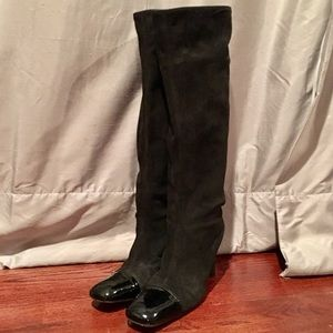 Authentic Chanel Knee High Boots - Runway