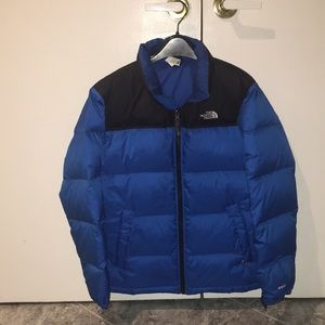Boys North Face 2 Tone Quilted Jacket