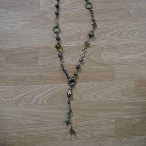 Jewelry - Long Green Tassel Necklace