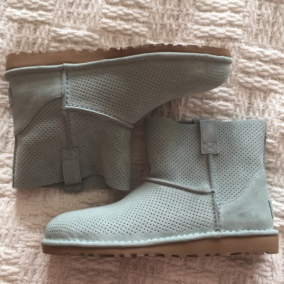 907a611febf UGG Classic Unlined Mini Perforated Leather Boot NWT