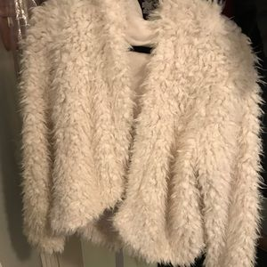 Free People faux fur hooded jacket