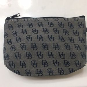 DB navy blue makeup pouch