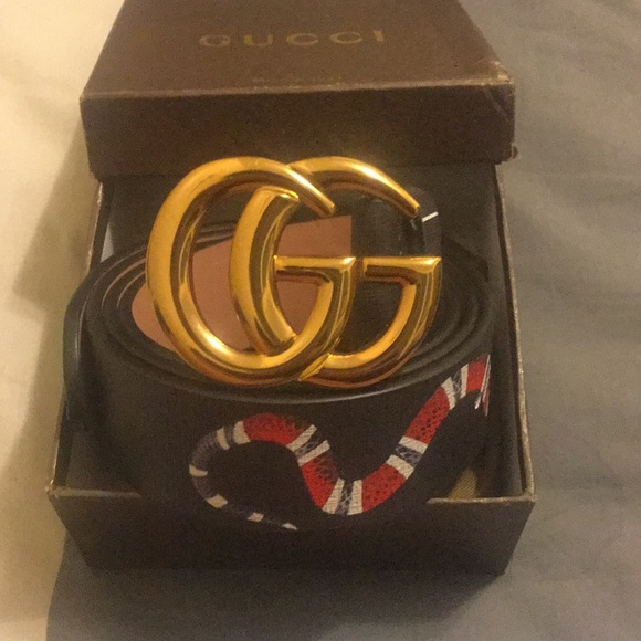 af6ab36622b New Gucci Snake Graphic Belt for men