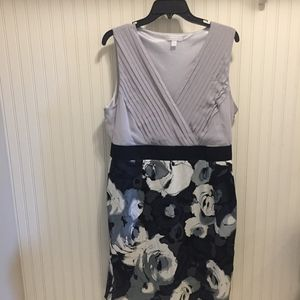 NWT New York and Company mixed media floral dress