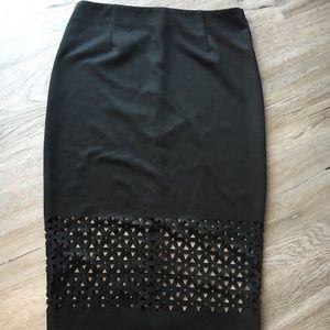 Sans Souci Laser Cut Design Detail Pencil Skirt