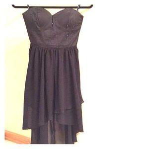 Stunning high low black dress