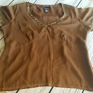 NY Collection Woman Silk Evening Blouse