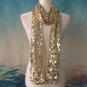 Gold Sequin Scarf 13