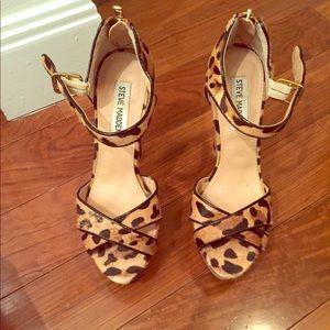 Steve Madden leopard print heels