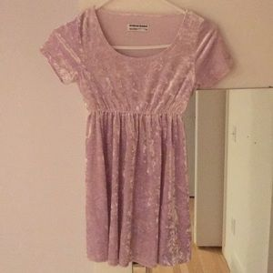 American Apparel Crushed Lavender Velvet Dress xs