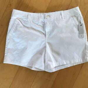 Liz Clairborne Classic Chino Shorts White