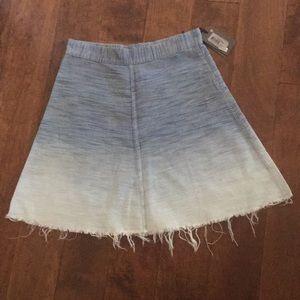 All Saints ombré denim a-line skirt