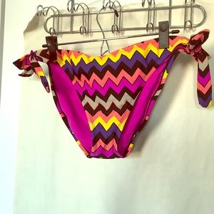 2 piece Target swimsuit in bright chevrons