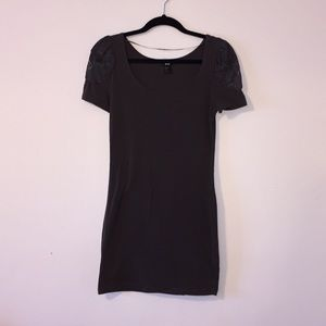 H&M Bodycon Dress with Lace Shoulders