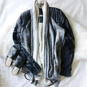 BlankNYC Moto Drape Front Jacket