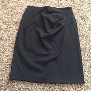 New York and Company side pleat knit pencil skirt