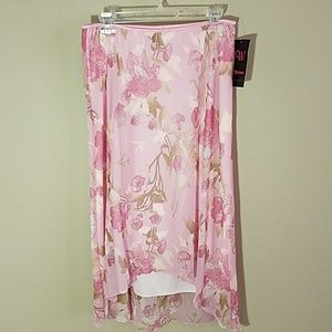 NWT Pink flowy high-low skirt sz XL