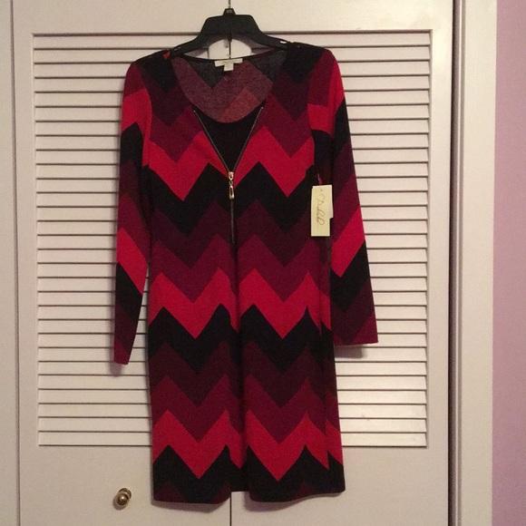 fc69dfbec4b6 Stein Mart Dresses | Red Chevron Sweater Dress | Poshmark
