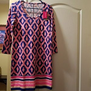 NWT Small Lilly Pulitzer pink sleeve dress