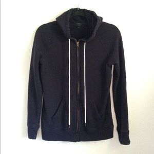 J. Crew full zip fleece hoodie
