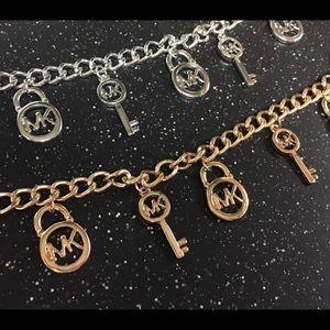 Michael Kors Charm Bracelet -Choose gold or silver
