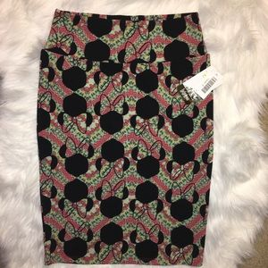 LuLaRoe Disney Cassie Minnie Mouse pencil skirt