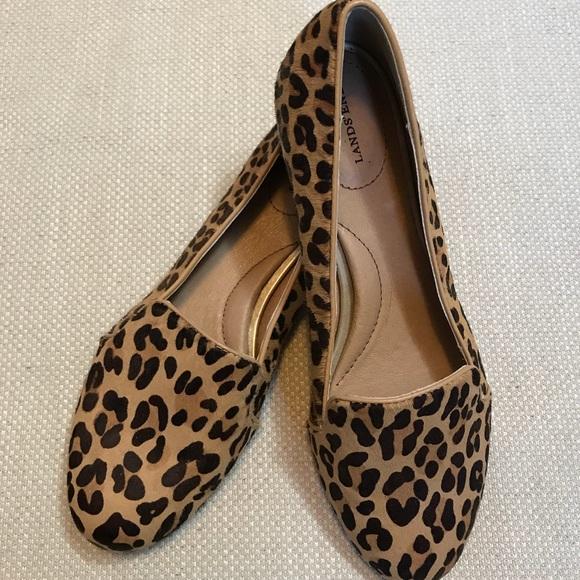 4dbd2e816ba Lands  End Shoes - Lands End Calf Hair Leopard Print Loafers