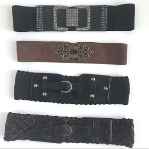 Four Stretchy Wide Belts