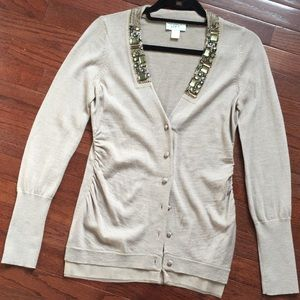 New Ann Taylor Loft Bedazzled Cardigan Sweater