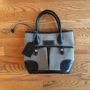 AUTHENTIC Canvas/Leather Dooney & Burke Bucket Bag