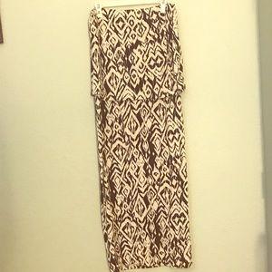 NWT Black & White Diamond Ikat Layered Ankle Dress