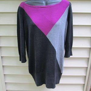 White House Black Market Colorblock Sweater Dress